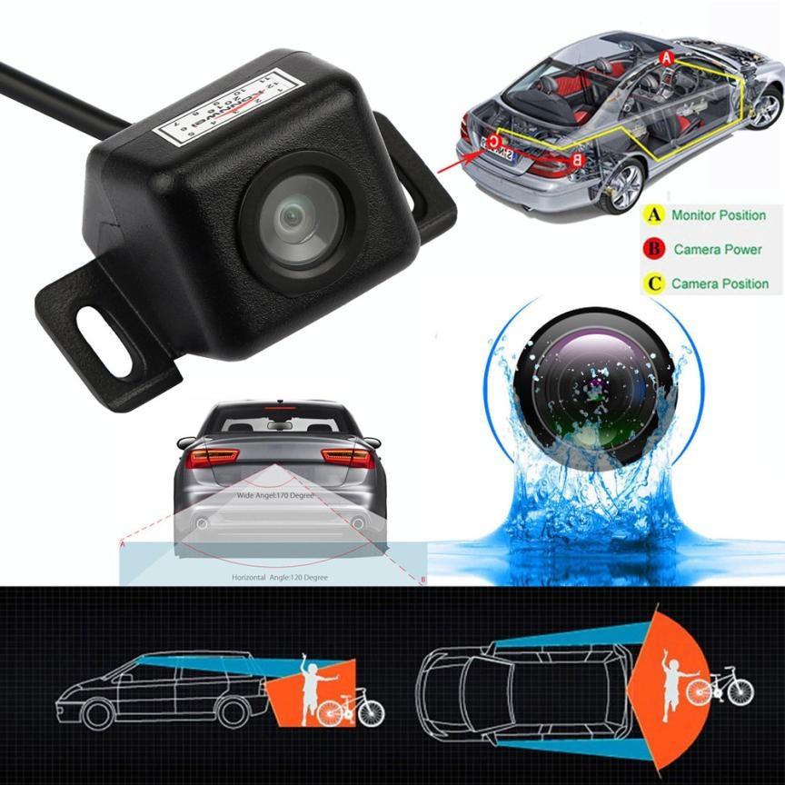 Car Video Mouldings & Trim Waterproof Car Rear View Reverse Backup Parking Camera Night Vision 170° Cmos