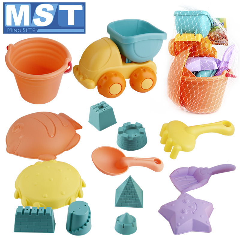 Summer Beach Toys Sand Toy Baby Beach Game Funny Plastic Bucket Bathing Sandbox Castle Set For Children Kids Play Sand Water