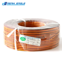 Wholesale 100M 26AWG 3P JR Futaba servo extension cable wire cord lead extended wiring connector for DIY RC helicopter car drone
