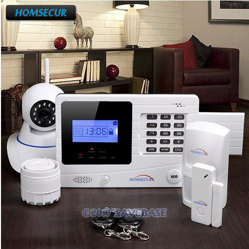 HOMSECUR Wireless&Wired GSM Autodial Burglar Alarm System With 720P IP Camera 10pcs lot sen013dg original