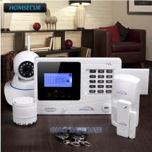 HOMSECUR Wireless&Wired GSM Autodial Burglar Alarm System With 720P IP Camera