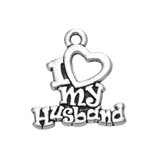 My Shape Pcs Romantic Word I Love My Husband Charms For Couple
