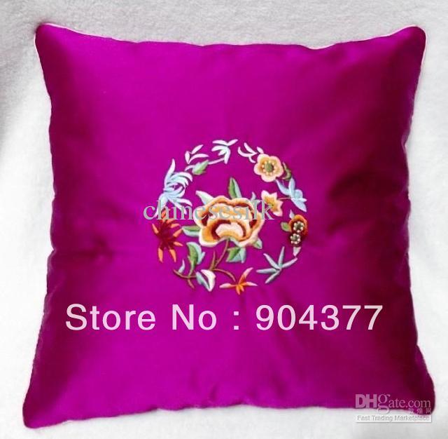 Decorative Sofa Cushion Cover New High End Silk Fabric Zipper