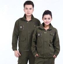 Männer 2016 Frauen Overalls Herbst Winter im Freien Military Jacke Männer Taschen Stehkragen Design Aftermarket Schutzkleidung