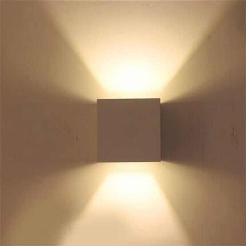 Modern LED Square Cube Lights Lamp LED Wall Lamp 6W Wall Sconce ...
