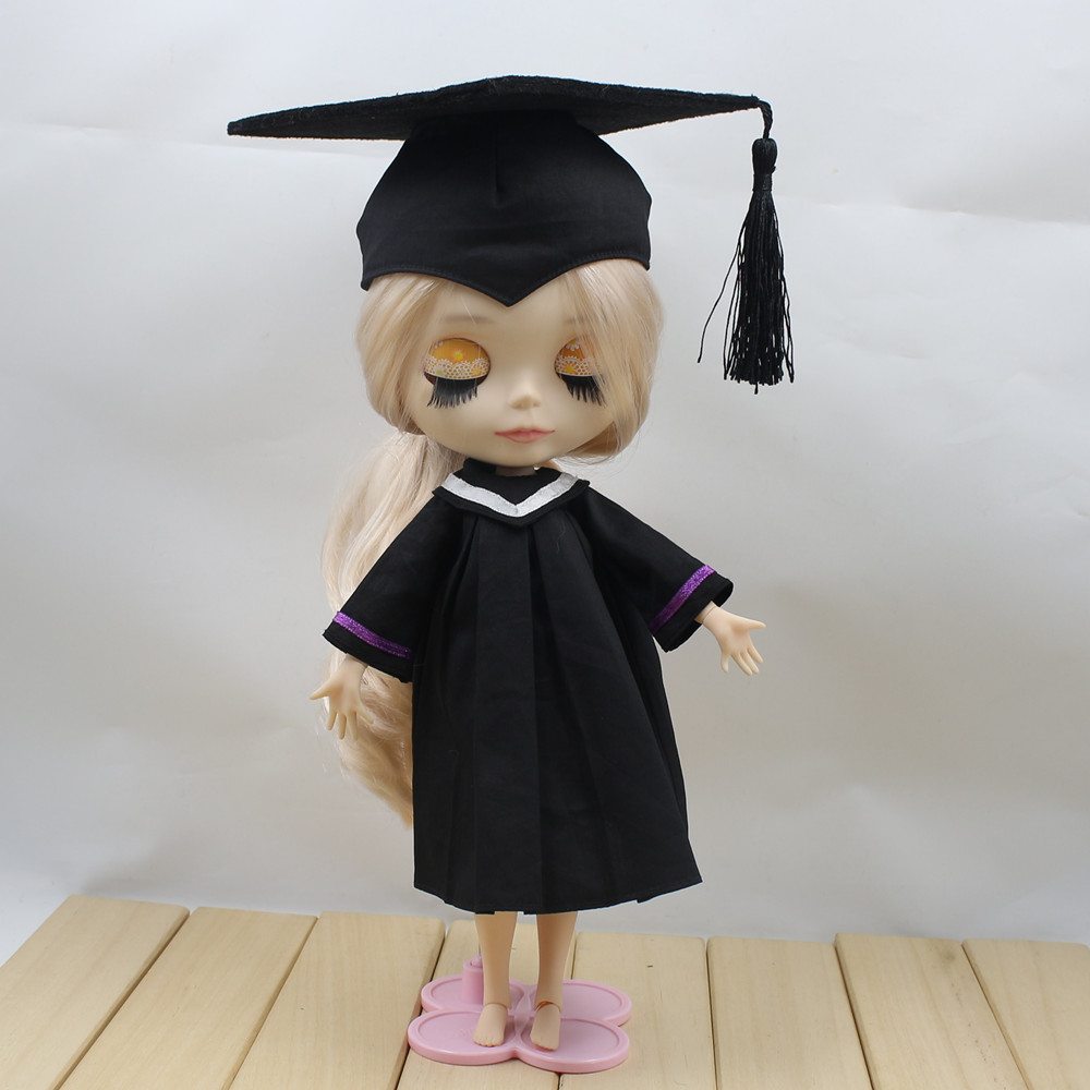 For blyth doll, for 1/6 doll, dress and hat, Graduation Dress ...