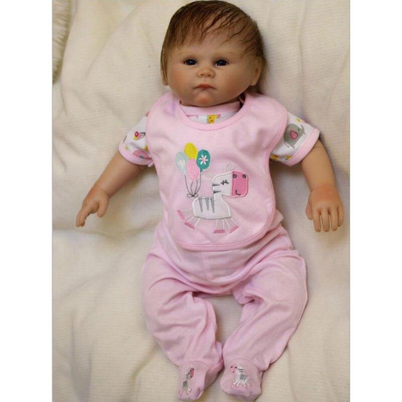 ФОТО 20inch BeBe Reborn 50cm Slicone reborn doll toy brinquedos silicone reborn babies boneca For Kids the best birthday gift Toy
