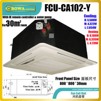 30m2 room ceiling cassette fan coil unit (FCU) is used mainly in classrooms, hotels, apartments and condominium applications.