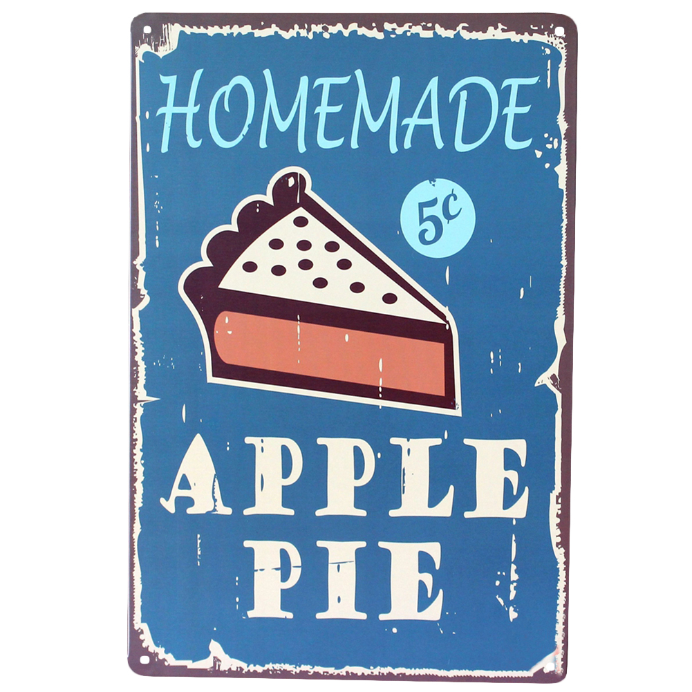Poster Küche Retro Us 4 51 Apple Pie Home Decoration Retro Metal Painting Antique Iron Poster Bar Pub Kitchen Signs Wall Art Sticker In Wallpapers From Home
