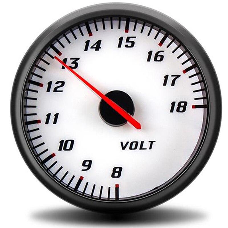 60mm volts mètres 2.5 pouces voltmètre automatique voiture compteur jauge 18 12 volts peinture numérique moto moto rcycle accessoires instrumentation