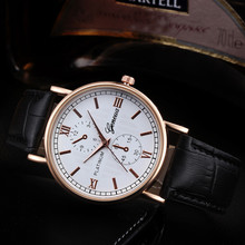 Роскошные бизнес часы для мужчин Ретро дизайн кожаный ремешок аналоговые кварцевые наручные часы классический бренд спортивные цифровые Relogio Masculino