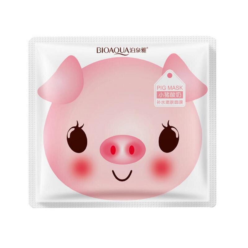 BIOAQUA Skin Care Women Pig Milk Face Masks Moisturizing Oil Control Natural Essence Collagen Whitening Mask