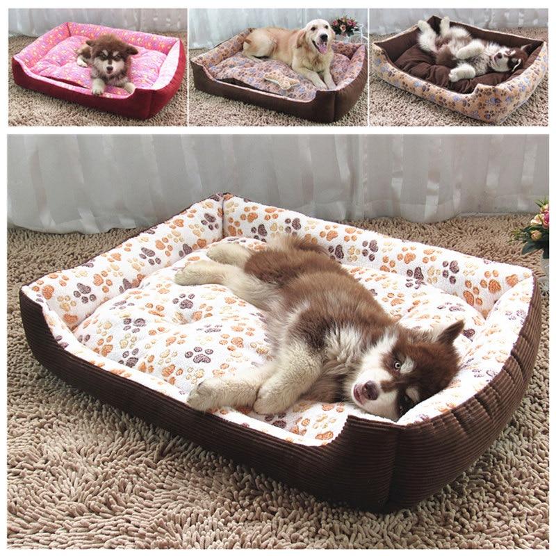 큰 크기 대형 개 케이스 고양이 침대 개 털 매트 부드러운 양털 애완 동물 페로 강아지 따뜻한 침대 집 봉제 아늑한 고양이 침대 패드 개집에 따뜻한