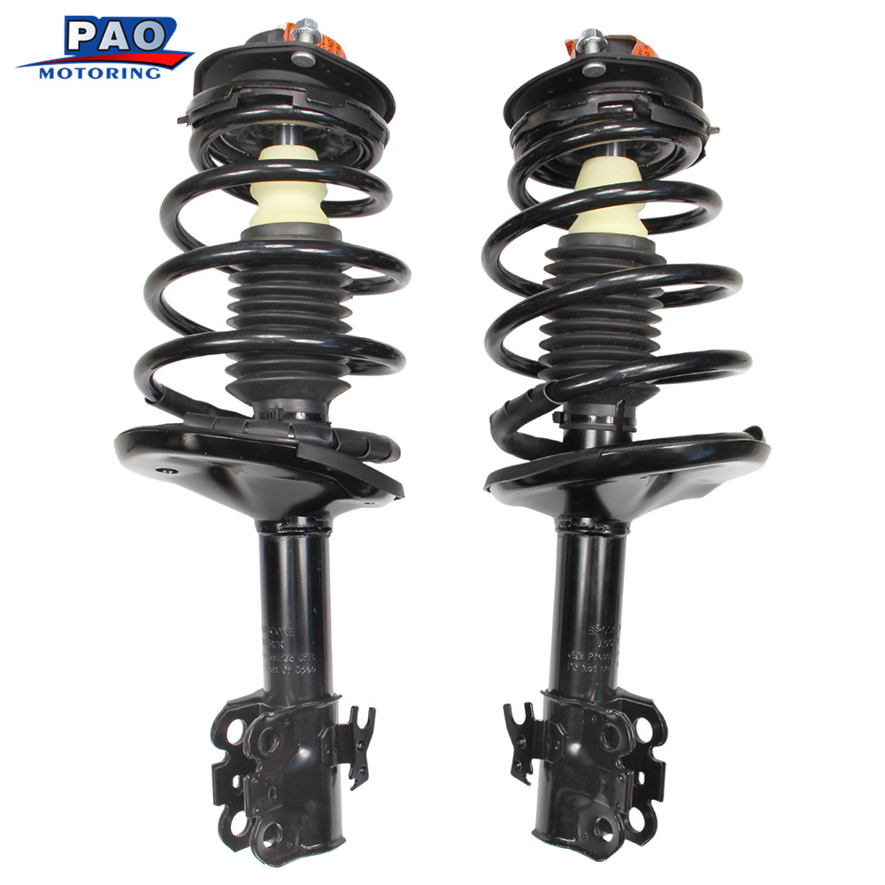 2PC New Front left&right Complete Strut Coil Spring Coilover Assembly For Toyota Camry 1992-1994 OEM171956,171955 Shock Absorber kyb car right front shock absorber 339232 for toyota highlander auto parts