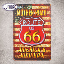 Shabby chic Home Bar USA Mother Road Route 66 Metal Tin Signs Decor Rustic Wall Plaque