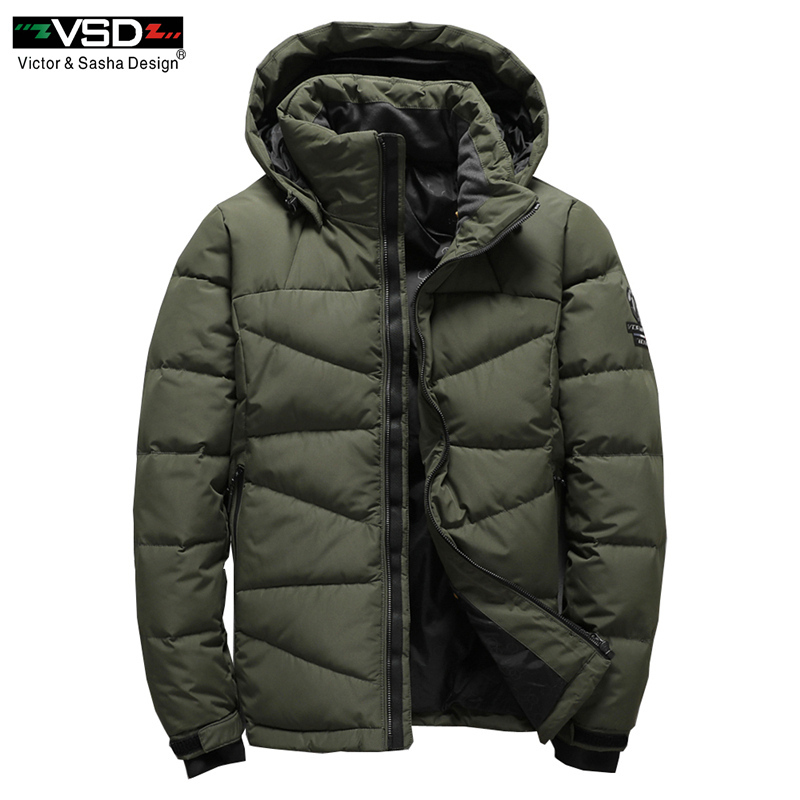 VSD 2017 Winter Mens Fashion White Duck   Down   Jacket Casual   Down     Coat   Parka Male High Quality Clothing   Coats   Free Shipping VS7803