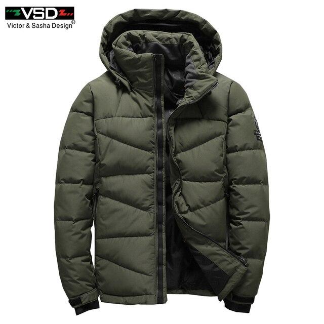 VSD 2017 зимние мужские мод белая утка Пух куртка Повседневное Пуховик Парка мужская одежда высокого качества Пальто и пуховики бесплатная доставка VS7803
