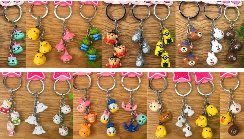 Snow on Moo Moo Cow Fabric Beads Buttons cute Key ring Key Chains 6.6 x 8.1 cm