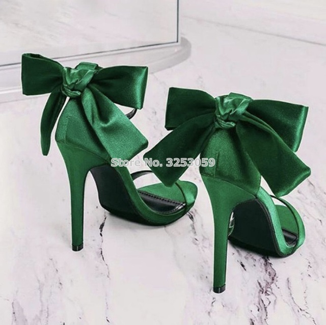 f952b9c98b7d ALMUDENA-Sweet-Style-Silk-Butterfly-Sandals -Thin-High-Heel-Green-Pink-Satin-Cloth-Fabric-Bowtie-Dress.jpg 640x640.jpg