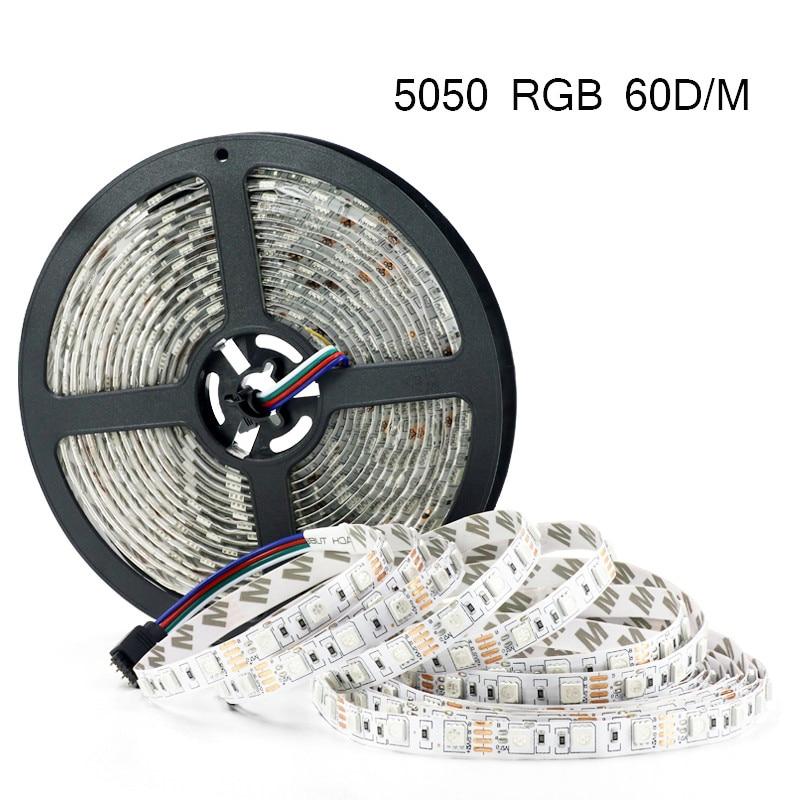 5M 300Leds waterproof 5050 RGB Led Strip Light white 3528 DC12V 60Led/M Flexible Light Led Ribbon Tape Home Decoration Lamp blue