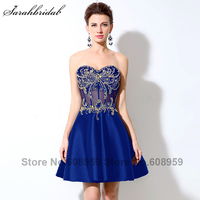Gold Rhinestone Crystal Short Homecoming Dresses 2017 New Sexy Sheer Corset Bodice Black Sweetheart Dress Party LSX005