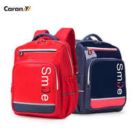 Caran-Y New 2019 Smile School Bags for Boys Orthopaedic Back Bag Backpack Travel Backpack Children School Bags CX2761