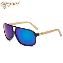 2017 New hot men sunglasses big size handmade bamboo glasses high fashion summer shades sun glasses for man 1524