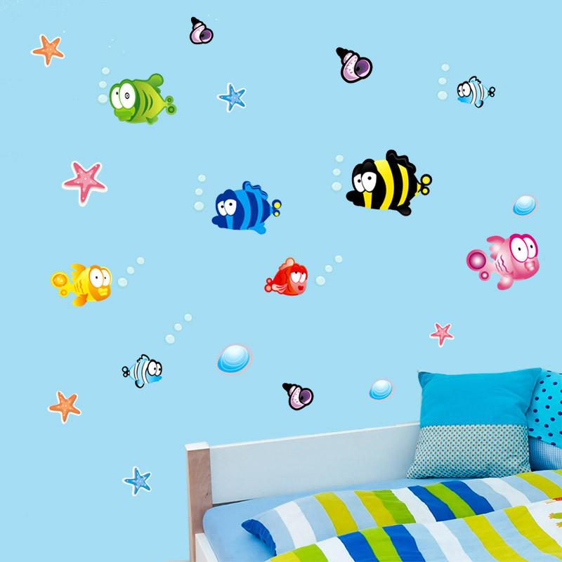 HTB1zmtMQXXXXXbqaXXXq6xXFXXXe - % Underwater Fish Starfish Bubble Wall Sticker For Kids Rooms Cartoon Nursery Bathroom Children Room Home Decor Wall Decals