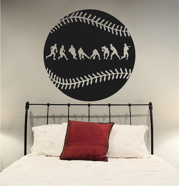 Baseball Sport Wall Decal Removable Vinyl Art Mural