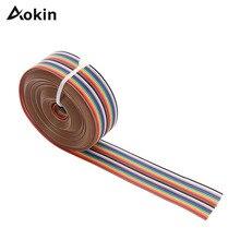 3M 20P DuPont кабель Радужная плоская линия Поддержка провода спаянный кабель соединительный провод