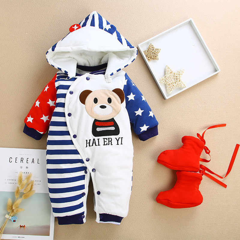 9e54d5a8646 Detail Feedback Questions about BibiCola baby rompers newborn baby boys  girls winter rompers jumpsuit clothes toddler infant hooded cartoon thick  warm ...