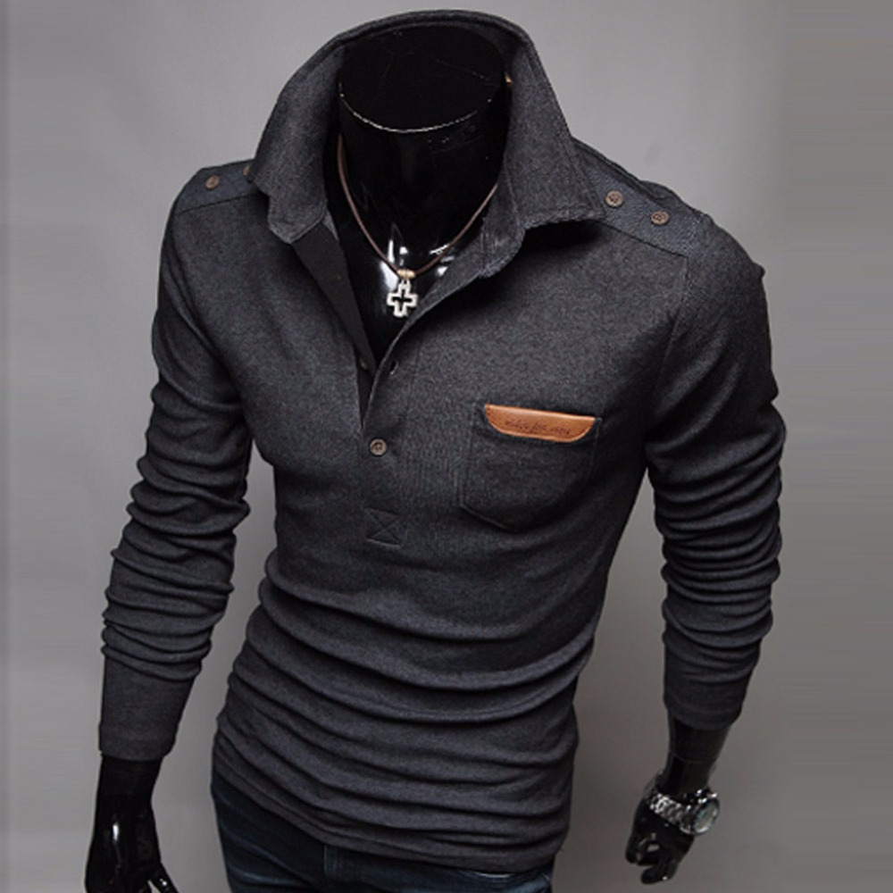 Sweater Solid Color Men 2018 Male Brand Casual Slim High Quality Sweaters Men Hedging Turndown Collar Men'S Sweater XXXL D001