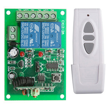 DC12V 24V 10A Motor Remote Switch Controller Motor Forwards Reverse Up Down Wall Transmitter Manual Button Limit Switch