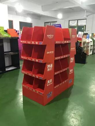 Exhibition Cardboard Display Shelf Stand