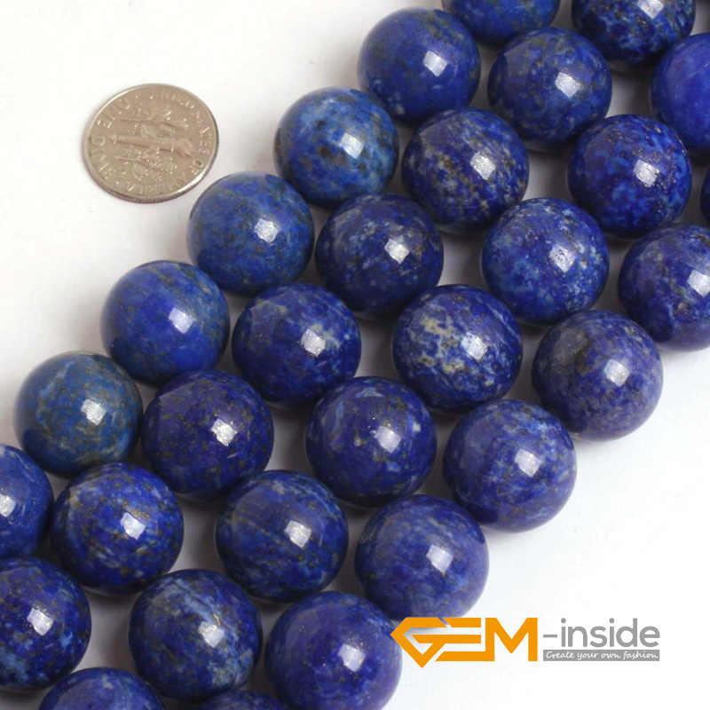 Ronde Blauwe Lapis Lazuli Kralen Natuurlijke Lapis Lazuli Steen Diy Losse Kralen Voor Sieraden Maken Kralen Strand 15 Inches Groothandel!