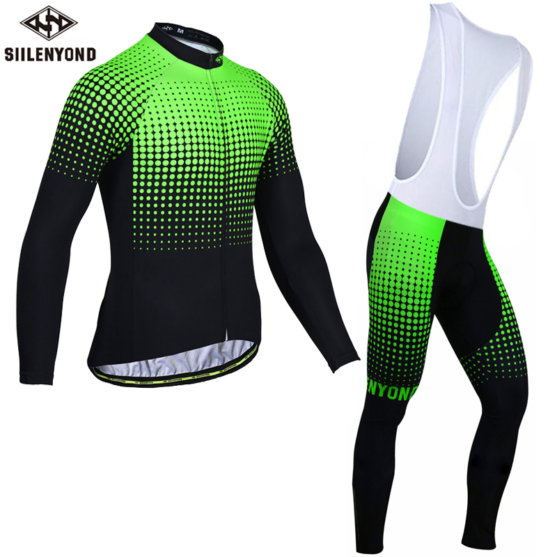 Siilenyond 2018 Winter Thermal Fleece Cycling Jersey Set Ropa Ciclismo MTB Long Sleeve Keep Warm Wear Bicycle Cycling Clothing men thermal long sleeve cycling sets cycling jackets outdoor warm sport bicycle bike jersey clothes ropa ciclismo 4 size