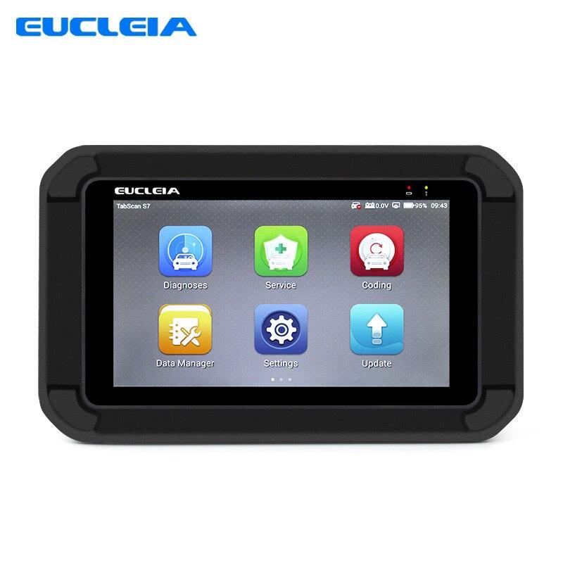 Автомобильная сканер EUCLEIA S7 OBD2 инструмент диагностики авто полный Системы сканер с ABS EPB CVT TPMS масла Услуги сброс ABS кровотечение