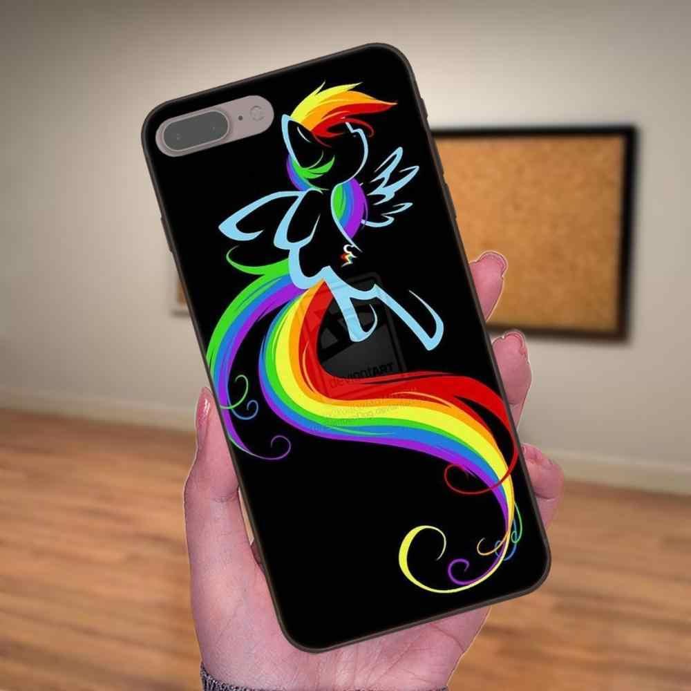 My Little Pony цветок Радуга ТПУ Мода в исходном для Xiaomi mi x Max Note 2 2 S 3 5X6X8 9 SE A1 A2 Lite Play Pro F1