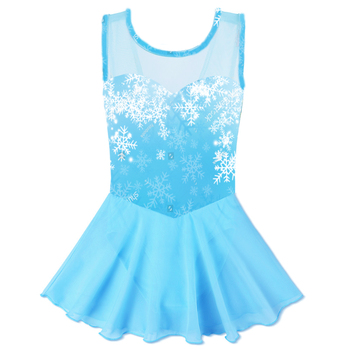 69f9ea3b9f82e BAOHULU nueva bailarina Ballet vestido niños leotardos vestidos Tutu baile  azul copo de nieve trajes Leotardos de Ballet para niñas