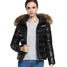 Superior New Winter Women's Down Cotton Parka Short Fur Collar Hooded Coat Quilted Jacket Plus Size Oct 20