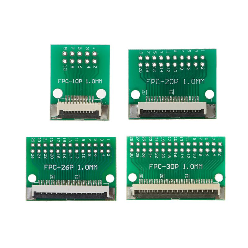 2pc 30P FFC FPC Adapter 0.5MM//1.0MM Pitch w// 0.5mm cover to 2.54mm 30P connector