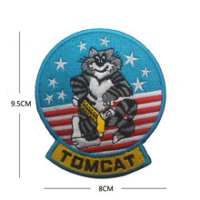 ANYTIME BABY F-14 TOMCAT NAVY PATCH MILITARY GRUMMAN TOMCAT US Fighter Squadron Jacket Shoulder Patch Badge(China)
