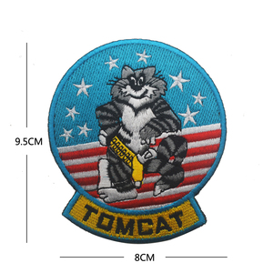 F-14 TOMCAT NAVY PATCH MILITARY TOMCAT US Fighter Squadron Jacket Shoulder Patch Badge(China)