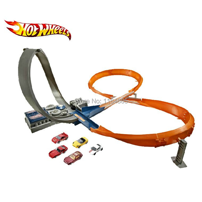 New Hot Wheel Electric Three Dimensional Cyclotron Track X2586 Boy Toy Racing Free Shipping In Casts Vehicles From Toys Hobbies On