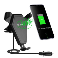 New Fast Wireless Charger For iphone X Car Mount Air Vent Stand or at Home Charger Qi Charging for Samsung Galaxy Note 8 S8 Plus
