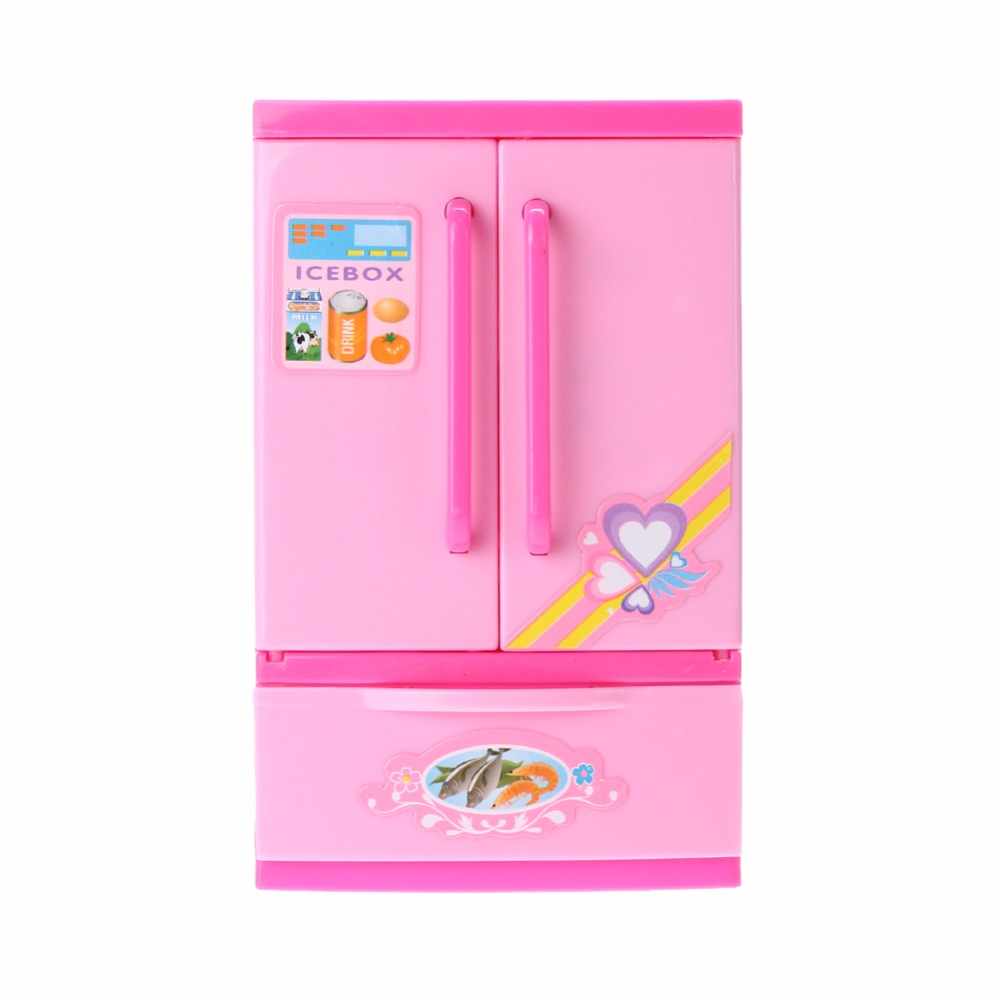 Refrigerator Toys Children Plastic Pretend Role Play Refrigerator Educational Toy Girls Lovely Classic Kitchen Toys