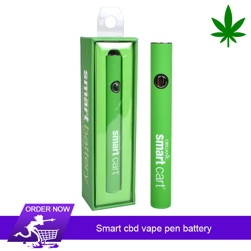 Original Smart Cart 380mAh Battery Electronic Cigarette 510 Thread Vape Pen For CBD Wax Cartridge
