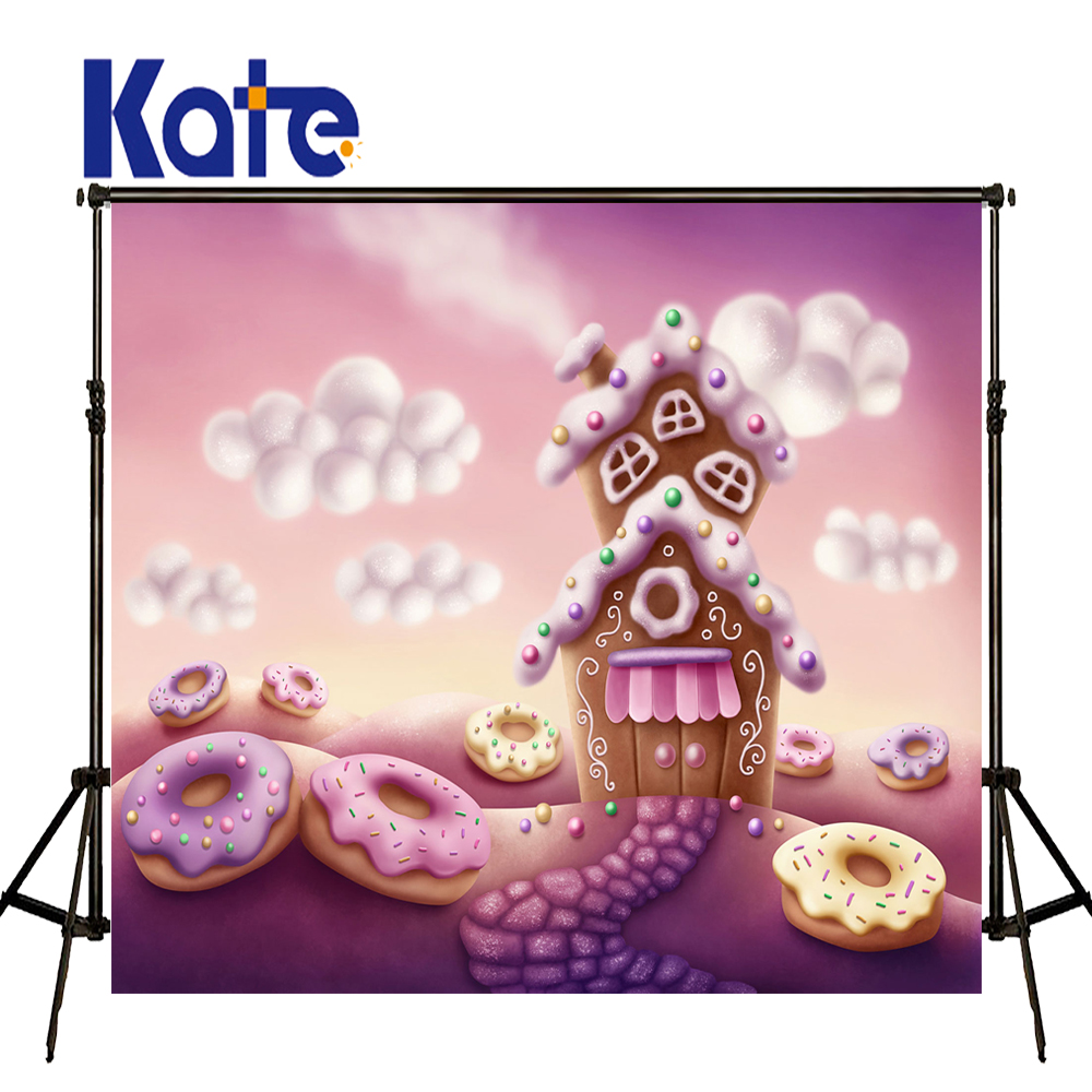 8X8ft Kate Newborn Backdrops Donuts Candy Room Backdrop Cartoon Fairy Tale World Background for Children Photo Shoot vinyl photography background fairy tale