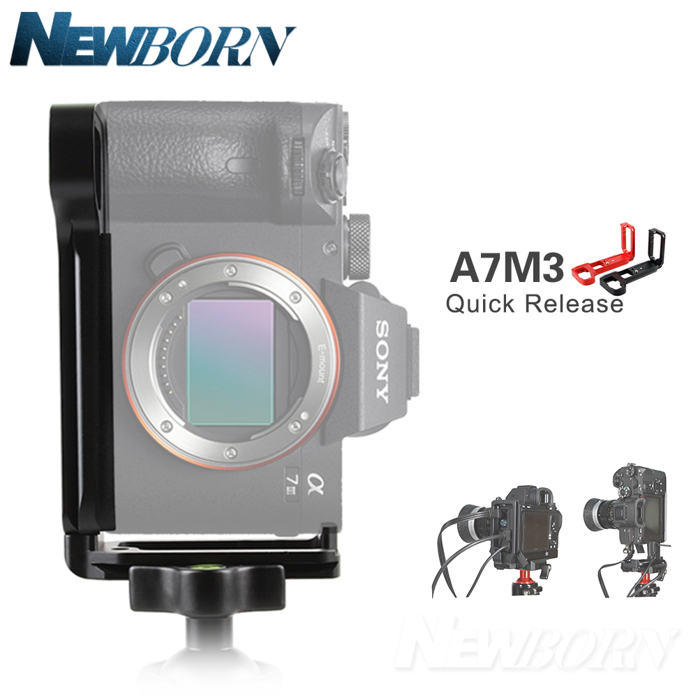 New A7M3 Quick Release L Plate/Bracket Holder hand Grip CNC for Sony A7III  / A7RIII / A9 Quick Release Baseplate & side plate