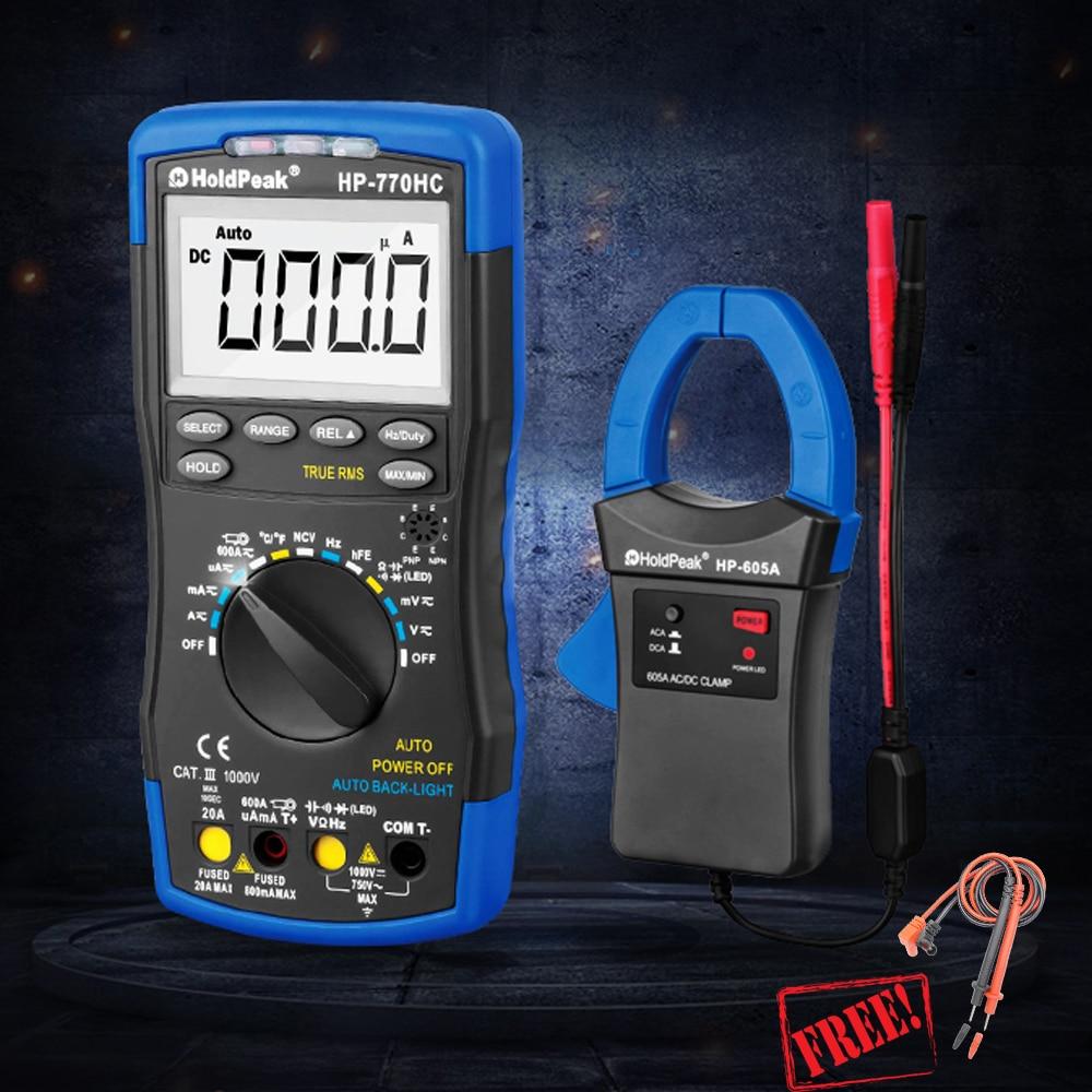 HP-770HC HP-605A 1000 V 600A Multimetro Digitale del Morsetto Metro Multimetro Vero RMS Funzione NCV Temperatura Frequenza Pastella HP890CN